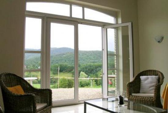 Vakantiehuis in Trois-Ponts, Ardennen - Uitzicht vanuit de woonkamer
