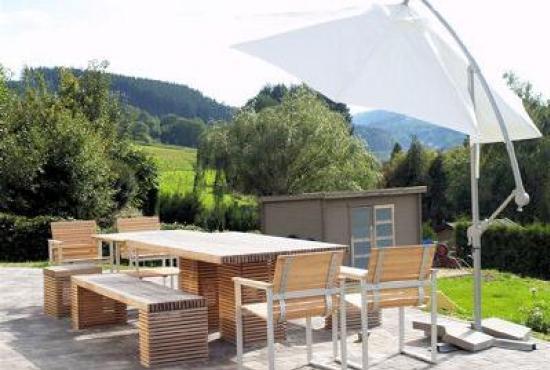 Vakantiehuis in Trois-Ponts, Ardennen - Terras met uitzicht