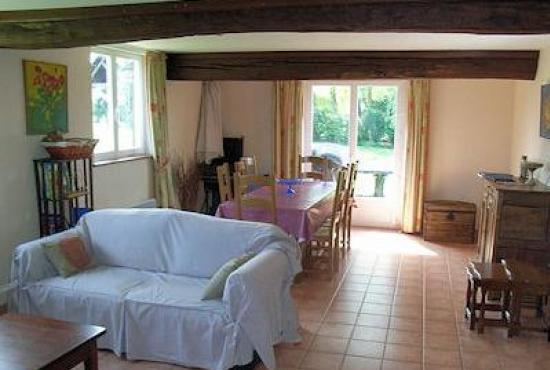 Vakantiehuis in Ablon, Normandië - Woonkamer