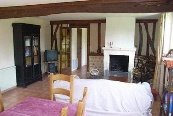 Holiday house in Ablon, Normandy - Livingroom