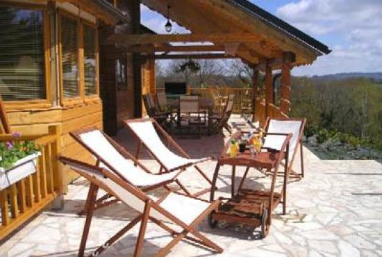 Holiday house in Naillat, Dordogne-Limousin - Terrace and view at the main house