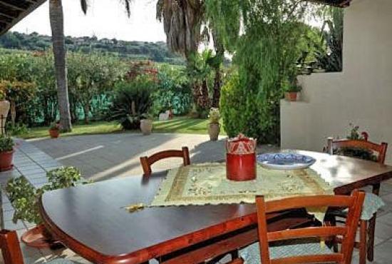Location de vacances en Trappeto, Sicile - Terrasse couverte