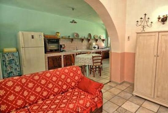 Location de vacances en Trappeto, Sicile - Séjour avec cuisine ouverte
