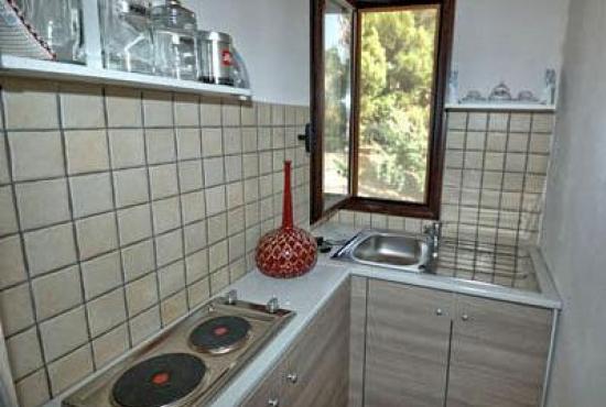 Location de vacances en Trappeto, Sicile - Coin cuisine à l'étage