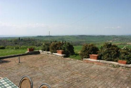Holiday house in San Quirico d'Orcia, Tuscany - Terrace and view