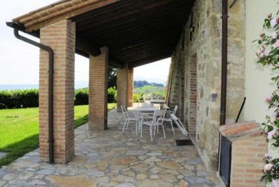 Holiday house in Celle sul Rigo, Tuscany - Covered patio