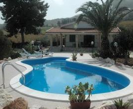 Holiday house in Scopello with pool, in Sicily.