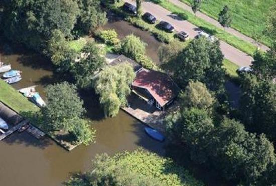 Vakantiehuis in Breukelen, Utrecht - Luchtfoto huis en omgeving