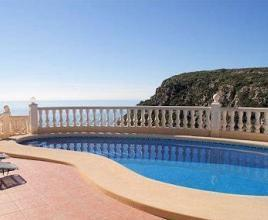 Casa vacanze con piscina in Benitachell, in Costa Blanca.