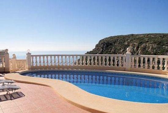Vakantiehuis in Benitachell, Costa Blanca - Zwembad en uitzicht