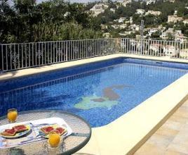Vakantiehuis in Moraira met zwembad, in Costa Blanca.