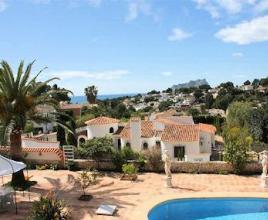 Vakantiehuis met zwembad in Costa Blanca in Moraira (Spanje)