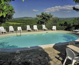 Holiday house in Montegiove with pool, in Umbria.