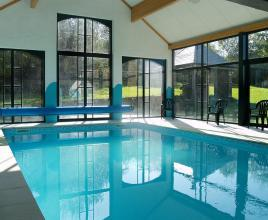 Holiday house in Durbuy with pool, in Ardennes.