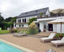 Holiday house in Aywaille with pool, in Ardennes.