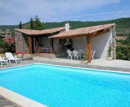 Holiday house in Aubignas with pool, in Provence-Côte d'Azur.