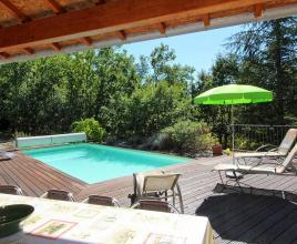 Holiday house in Saint-Genest-de-Beauzon with pool, in Provence-Côte d'Azur.
