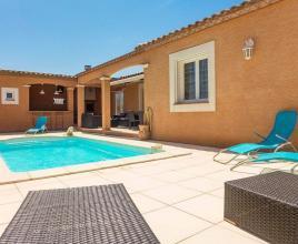 Ferienhaus in Sallèles-d'Aude mit Pool, in Languedoc-Roussillon.