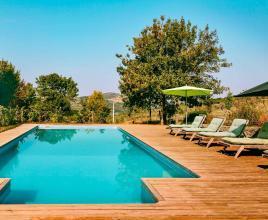 Ferienhaus in Roquetaillade mit Pool, in Languedoc-Roussillon.