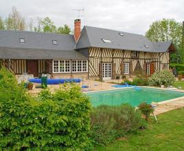 Ferienhaus in Saint-André-d'Hébertot mit Pool, in Normandie.