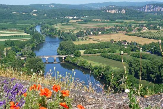 Holiday house in Groléjac, Dordogne-Limousin - View from Domme