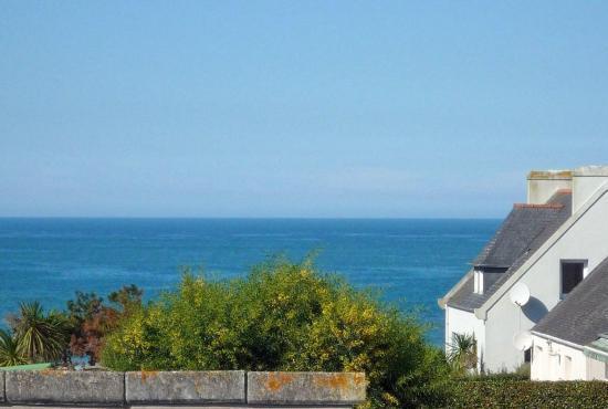 Ferienhaus in  Moguériec, Bretagne - Aussicht von der Etage