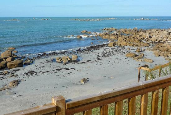 Vakantiehuis in Plouescat, Bretagne - Terras en uitzicht