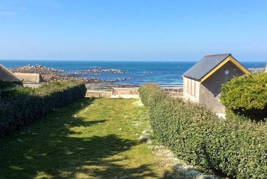 Vakantiehuis in Plouescat, Bretagne - Uitzicht vanaf de etage