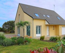 Ferienhaus in Portbail am Meer, in Normandie.