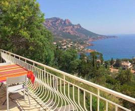 Casa vacanze al mare in Anthéor, in Provence-Côte d'Azur.