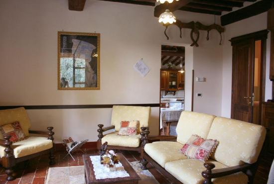 Ferienhaus in  Castiglion Fiorentino, Toskana - Wohnzimmer im Haupthaus