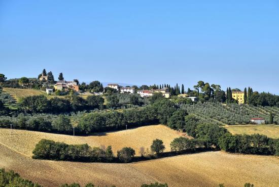 Vakantiehuis in Pontebari, Umbrië - Landschap dicht bij het huis