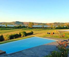 Holiday house in Chiusi with pool, in Tuscany.