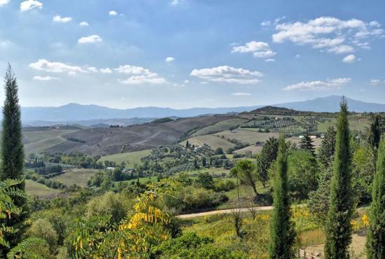 Vakantiehuis in Camporsevoli, Toscane - San Casciano dei Bagni - landschap