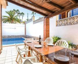 Vakantiehuis in Blanes met zwembad, in Costa Brava.