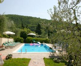 Holiday house in San Giustino Valdarno with pool, in Tuscany.
