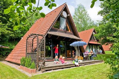 Vakantiehuis in Ronshausen met zwembad, in Hessen.