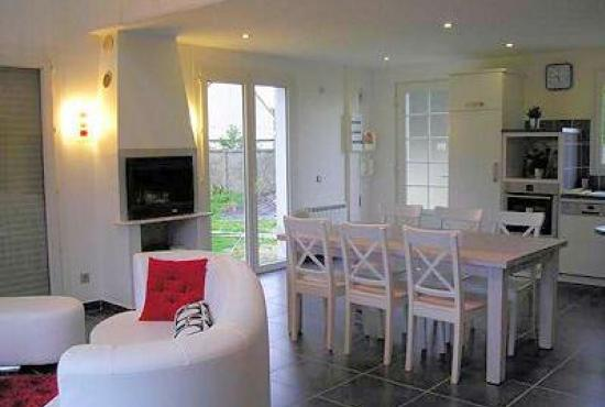 Vakantiehuis in normandi in denneville plage frankrijk - Woonkamer mezzanine ...