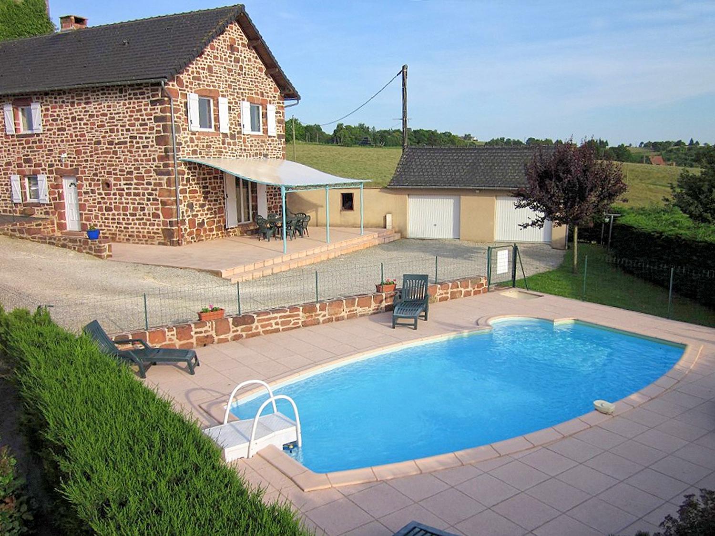 Vakantiehuis in Lagleygeolle met zwembad, in Dordogne-Limousin.