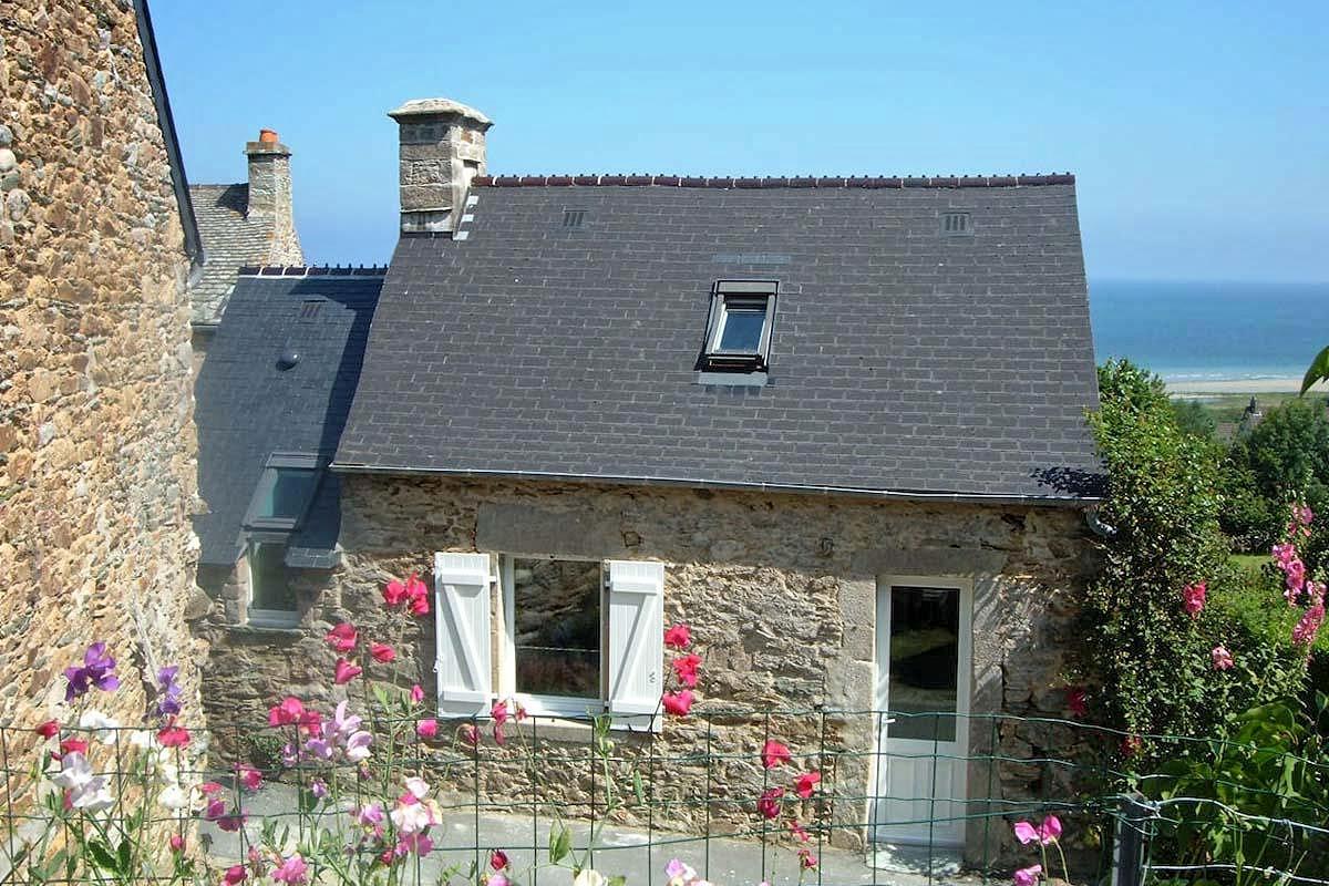 Vakantiehuis in Urville-Nacqueville aan zee, in Normandie.