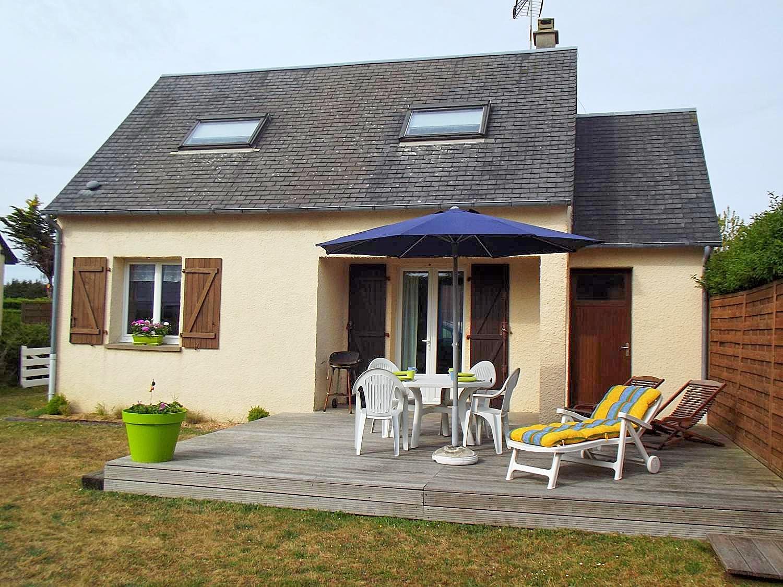 Vakantiehuis in Portbail aan zee, in Normandie.