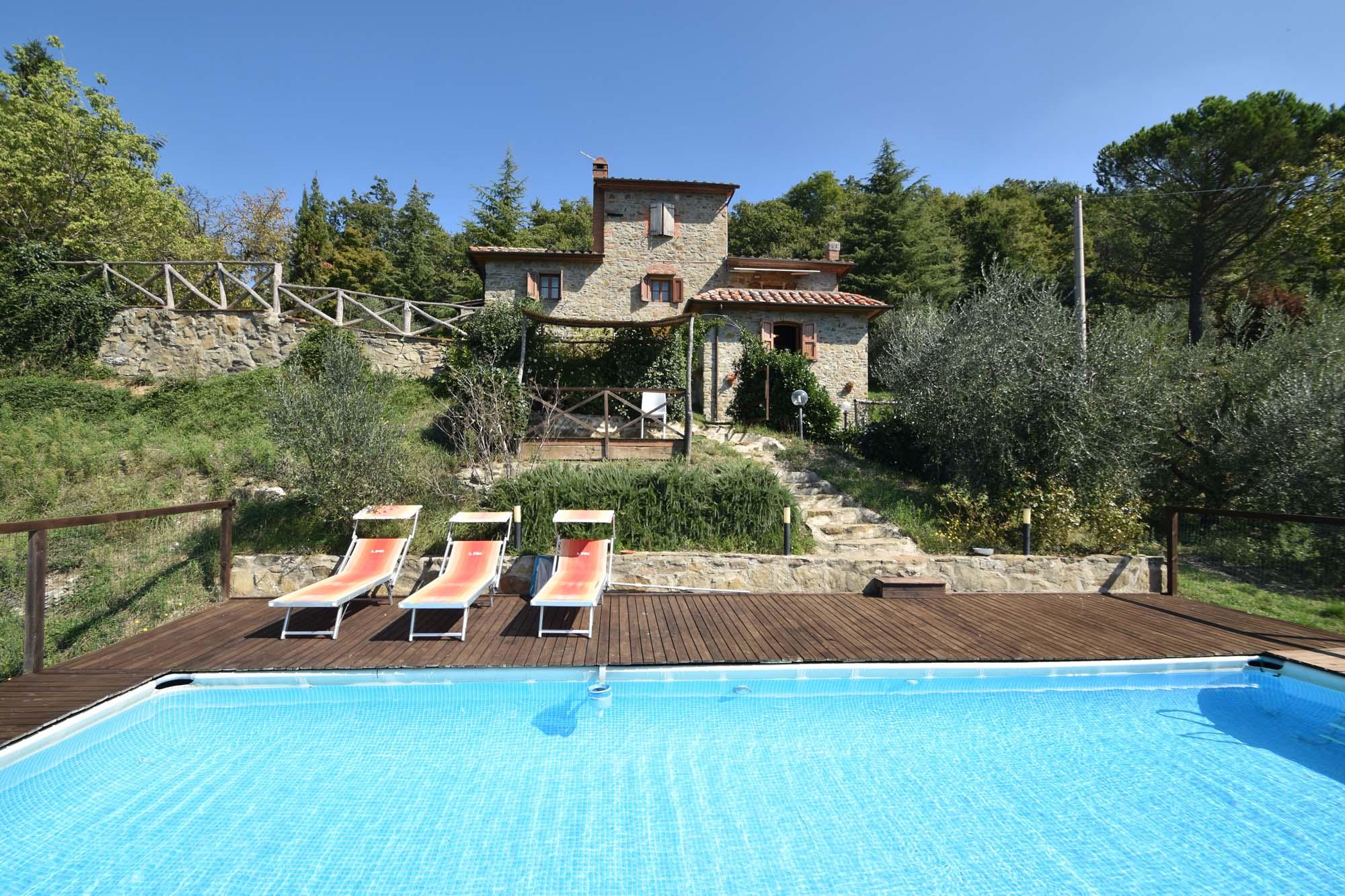 Vakantiehuis in Arezzo met zwembad, in Toscane.