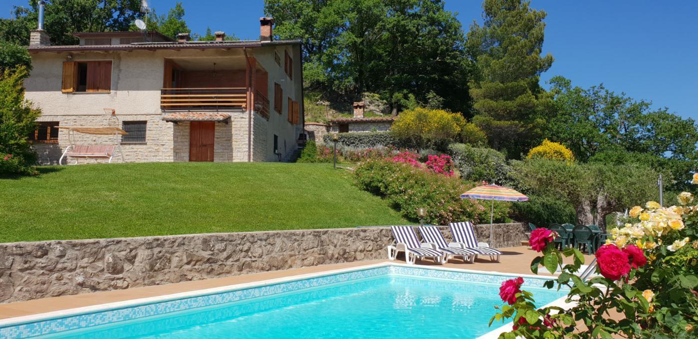Vakantiehuis in Casacastalda met zwembad, in Umbrie.