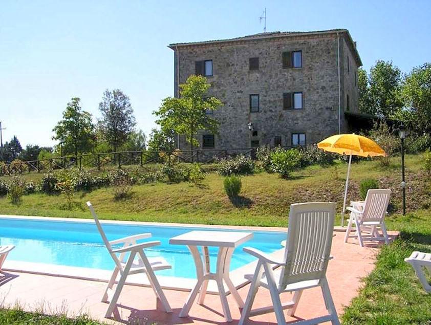 Vakantiehuis in Pontecuti met zwembad, in Umbrie.
