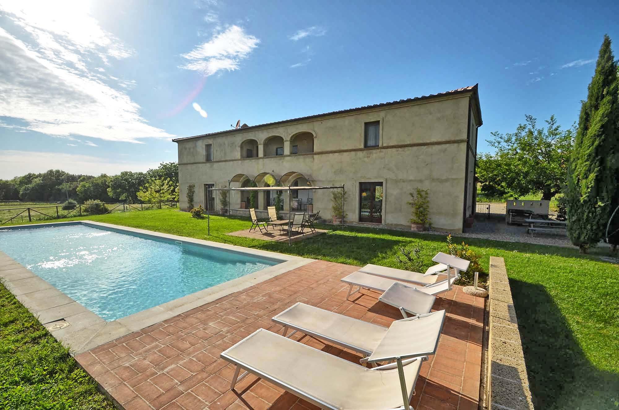 Vakantiehuis in Buonconvento met zwembad, in Toscane.