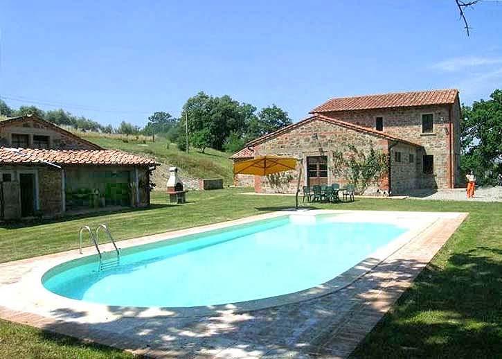 Vakantiehuis in Contignano met zwembad, in Toscane.