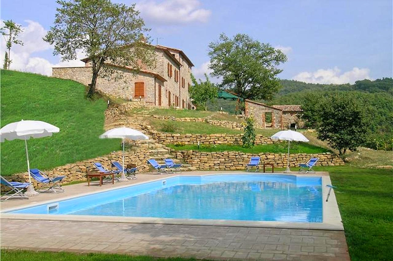Vakantiehuis in Fabro met zwembad, in Umbrie.