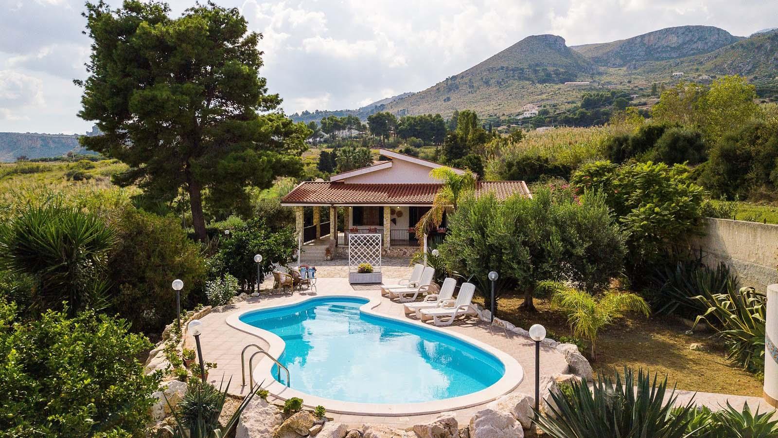 Vakantiehuis in Scopello met zwembad, in Sicilie.