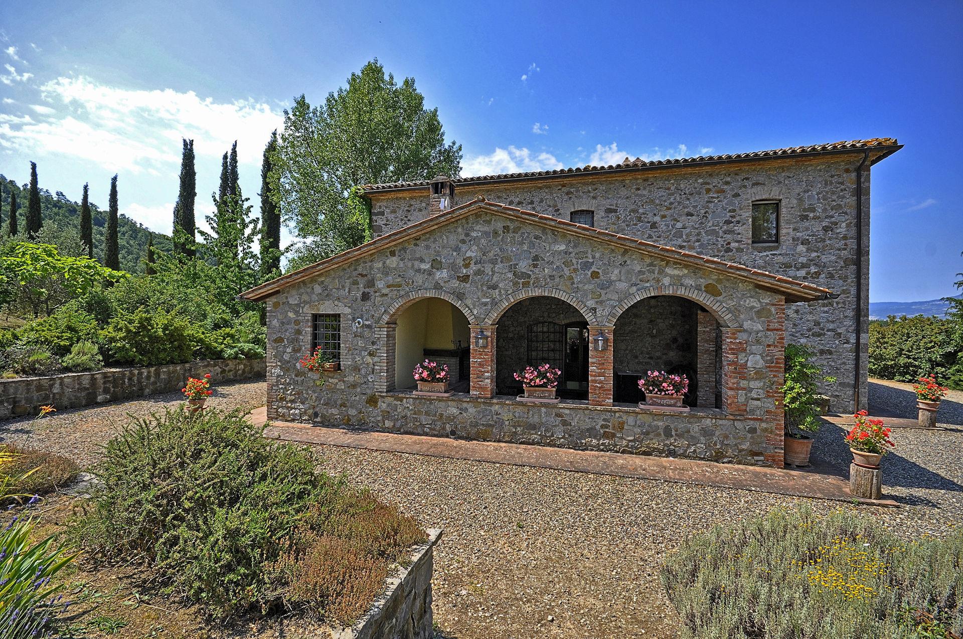 Vakantiehuis in Trevinano met zwembad, in Lazio.